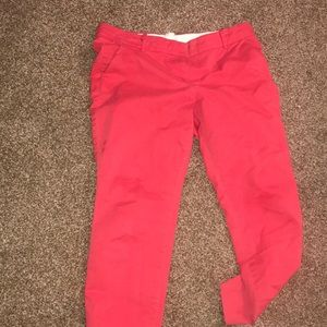 J. Crew coral crop chino size 8